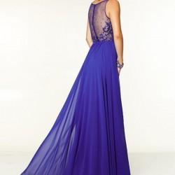 Saks Mavisi Uzun Kloş Abiye Modelleri 2016