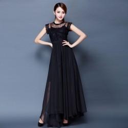 Siyah Renkli Kloş Uzun Elbise Modelleri