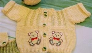 Ayıcık Desenli Bebek Yelek Modelleri