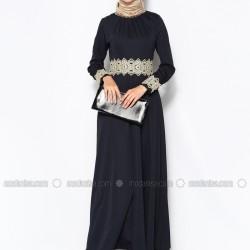 En Güzel Modanisa Siyah Tesettür Abiye Modelleri 2016