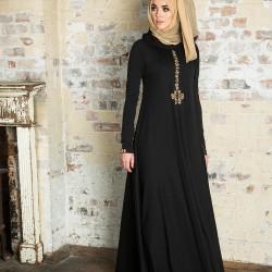 En Güzel Siyah Tesettür Abiye Modelleri 2016