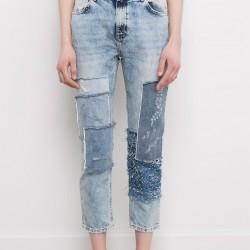 En Güzel Yeni Trend Yamalı Kot Pantolon Modelleri 2016