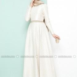 Modanisa Tesettür Jakarlı Elbise Modelleri 2016