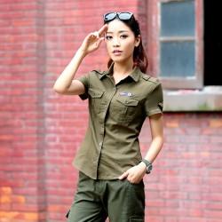 Önden Cepli Asker Yeşili Gömlek Modelleri 2016