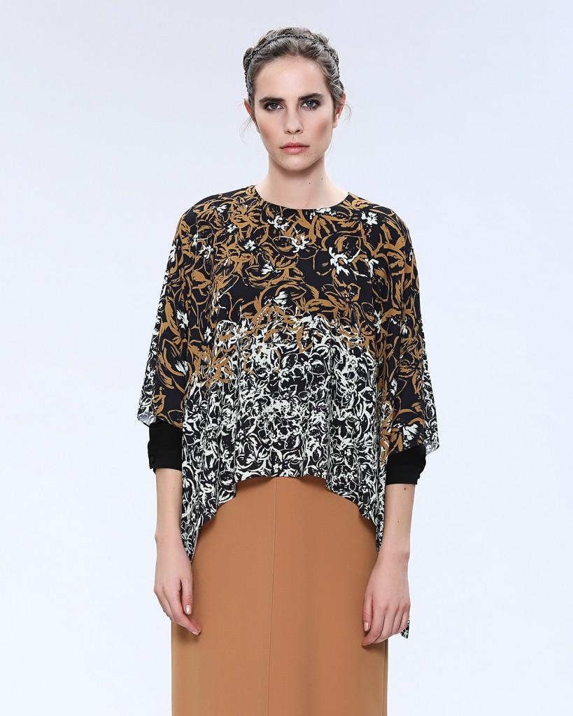 Asimetrik Desenli Seçil Store Bluz Modelleri 2016