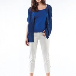 En Güzel Saks Mavisi Bluz Kombinleri