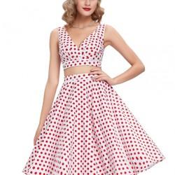 En Güzel Vintage Kloş Elbise Modelleri 2016