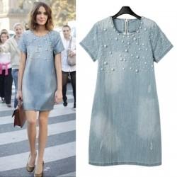 En Yeni Yazlık Jean Elbise Modelleri