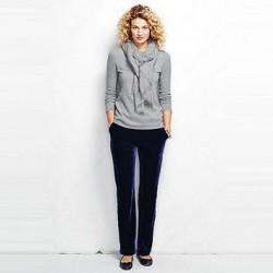Kadife Lacivert Pantolon Kombinleri 2016