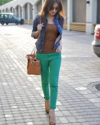 Yeni Sezon Yeşil Pantolon Modelleri