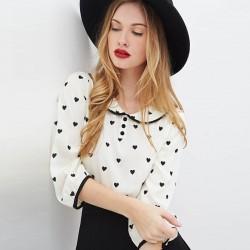 En Güzel Bebe Yaka Şifon Bluz Modelleri 2016