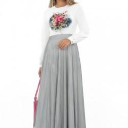 Kapalı Bayanlarında Eşarp Kombini İle Tercih Edebileceği Kombin Örnekleri 2 Yaka Elbise Modelleri
