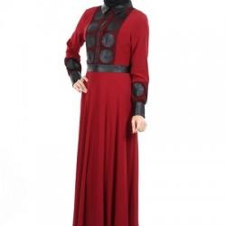 Yeni Sezon 2 Yaka Tesettür Elbise Modelleri