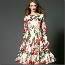 2016 Çiçek Desenli Elbise Modelleri