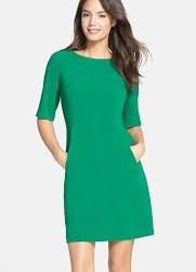 Cep Detaylı Yeşil Elbise Modelleri