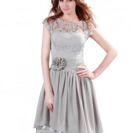 En Tarz Gri Abiye Elbiseler 2016