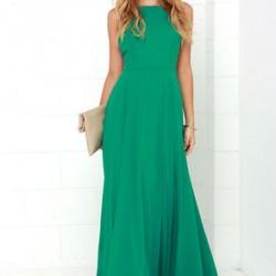 En Yani Yeşil Renkli Maksi Elbiseler