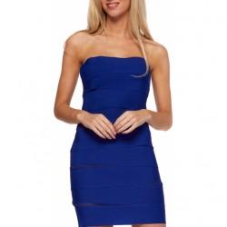 Yeni Sezon Mini Saks Mavisi Elbise Modelleri 2016