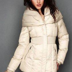 Beyaz Kapşonlu Bayan Şişme Mont Modelleri