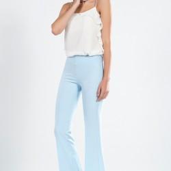 En İddalı Buz Mavisi Pantolon Kombin