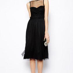 Çok Kibar Tüllü Elbise Modeli