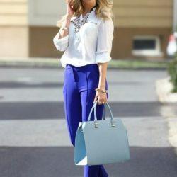 En Hoş Mavi Pantolon Kombinleri