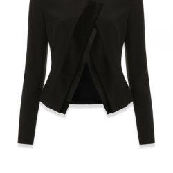 Çok Kibar Siyah Renkli Vakko Bayan Ceket Modelleri