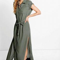 Çok Şık Yırtmaç Detaylı Uzun Elbise Modelleri