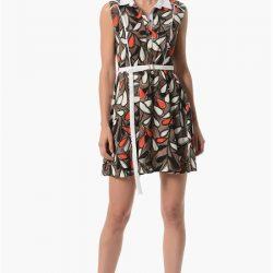 Kemer Detaylı Çok Kibar NetWork Elbise Modelleri