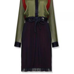 Kalın Kemer Detaylı Çok Kibar Vakko Elbise Modeli