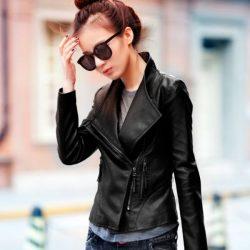 En Şık Bayan Deri Ceket Modelleri 2017