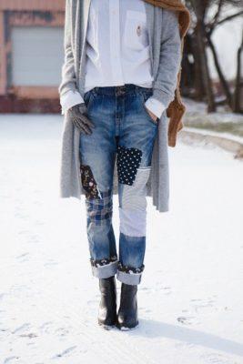 En Güzel Yamalı Kot Pantolon Modelleri 2019