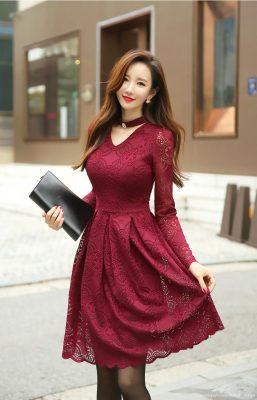 En Güzel Kloş Elbise Modelleri 2021